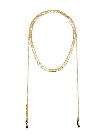 Frame Chain Gold-Plated Chain Choker Necklace AINTNOCHOKE | Farfetch