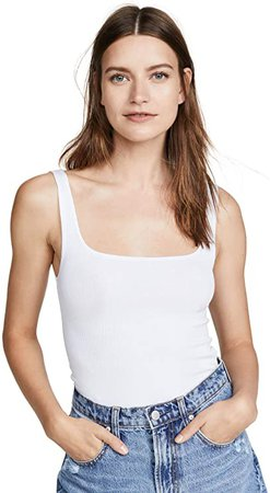 LNA Women's Essential Ribbed Scoop Tank at Amazon Women's Clothing store