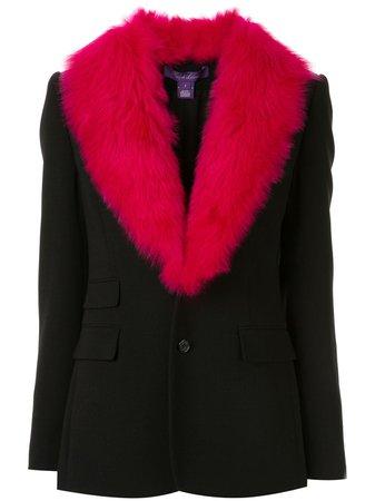 Ralph Lauren Collection Faux Fur Collar Blazer Aw19 | Farfetch.com