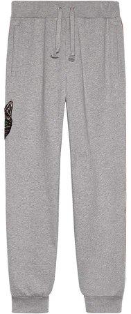 stripe cotton jogging pant