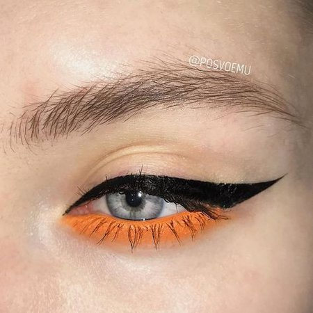 Black & Yellow/Orange Eyeliner