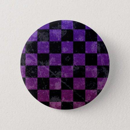Emo punk checkerboard pinback button | Zazzle.com