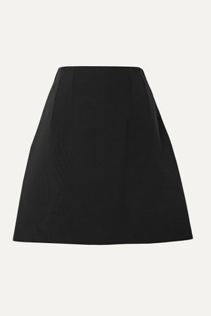 Black Silk and wool-blend cady mini skirt | Gucci | NET-A-PORTER