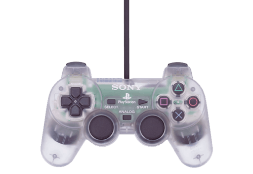 clear playstation dualshock controller