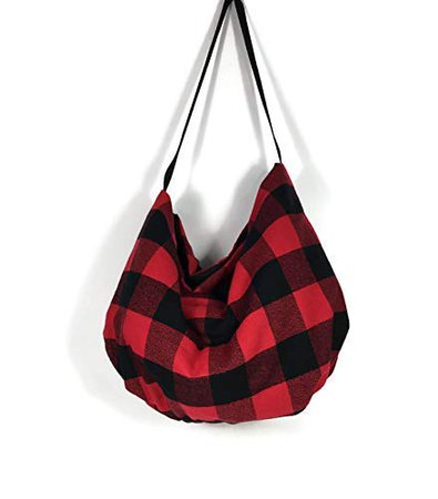 Amazon.com: Red and Black Buffalo Check Plaid Handbag Buffalo Check Hobo Bag Buffalo Plaid Flannel Shoulder Bag Lumberjack Hobo Purse Buffalo Check Pouch: Handmade
