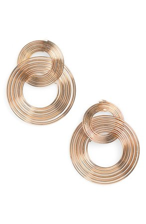 BP. Linked Coil Hoop Drop Earrings | Nordstrom