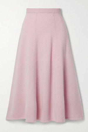 Hardin Cashmere Midi Skirt - Pink