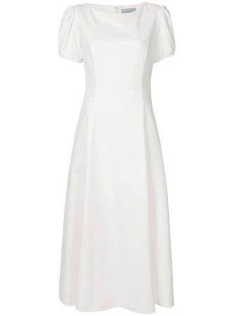Luisa Beccaria Puffed Sleeve Midi Dress - Farfetch