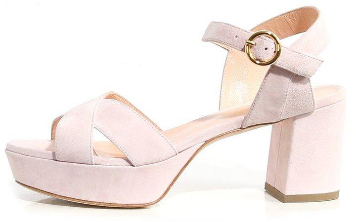 Deidre Suede Sandal in Carnation Pink