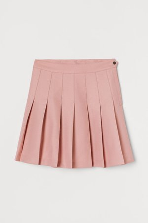 Pleated Skirt - Pastel pink - Ladies | H&M US