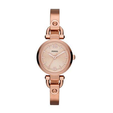 Fossil - Fossil Women's Georgia Rose Gold Tone Stainless Steel Watch (Style: ES3268) - Walmart.com - Walmart.com