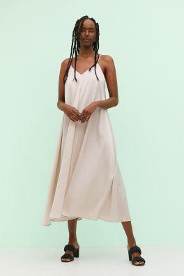 tan dress 👗