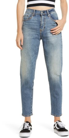 Loverboy Distressed High Waist Boyfriend Jeans