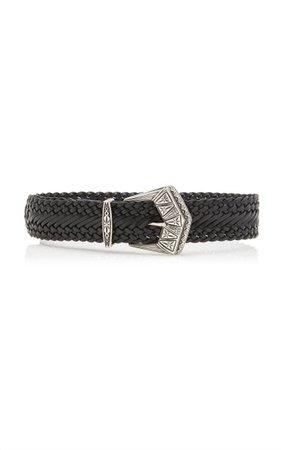 Wide Braided Leather Belt By Etro | Moda Operandi