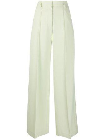 Shop green Nanushka high rise palazzo pants with Express Delivery - Farfetch