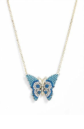 Knotty Butterfly Pendant Necklace | Nordstrom
