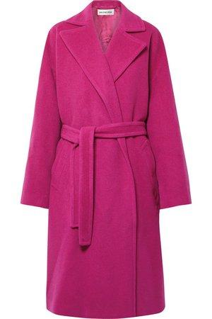 Balenciaga   Belted camel hair-blend coat   NET-A-PORTER.COM