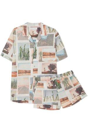 Desmond & Dempsey   Printed cotton-voile pajama set   NET-A-PORTER.COM