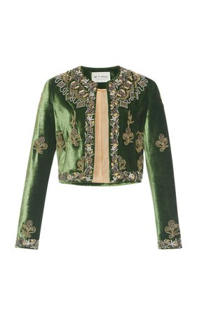 Embroidered Velvet Jacket by Etro | Moda Operandi