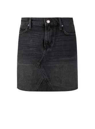 Black Denim Mini Skirt   Miss Selfridge