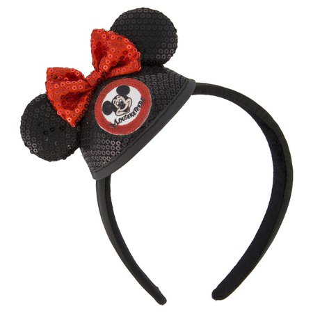 Minnie Mouse Sequined Mini Ear Hat Headband - The Mickey Mouse Club