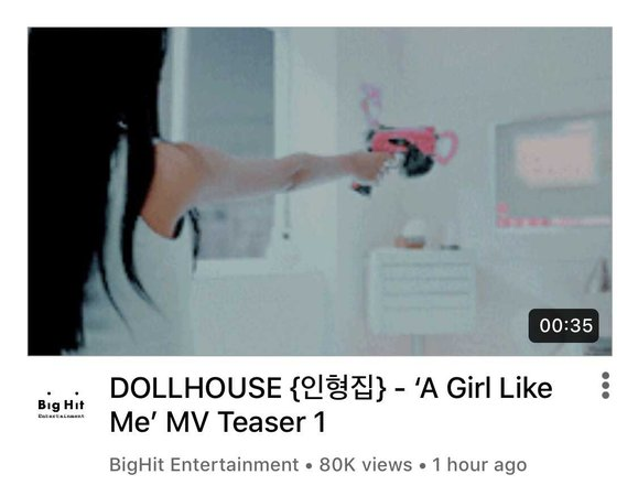 DOLLHOUSE 'A Girl Like Me' MV Teaser 1