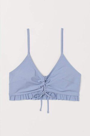 Padded Bikini Top - Blue
