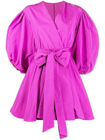 Valentino Balloon Sleeves Wrap Mini Dress - Farfetch