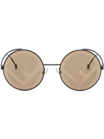 Fendi Eyewear Lunettes De Soleil Fendirama - Farfetch