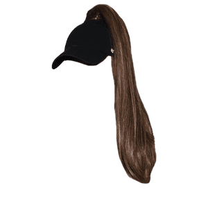 Brown Ponytail Hair PNG