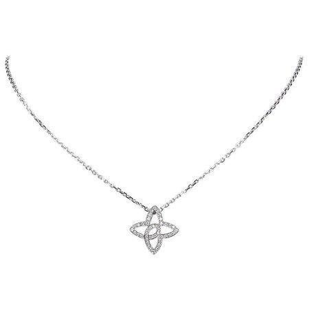 Louis Vuitton Silver Diamond Necklace