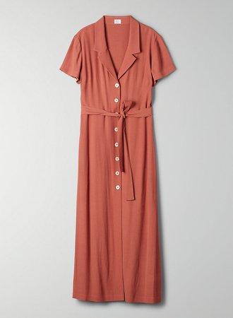 Wilfred SHIRT DRESS   Aritzia US rust