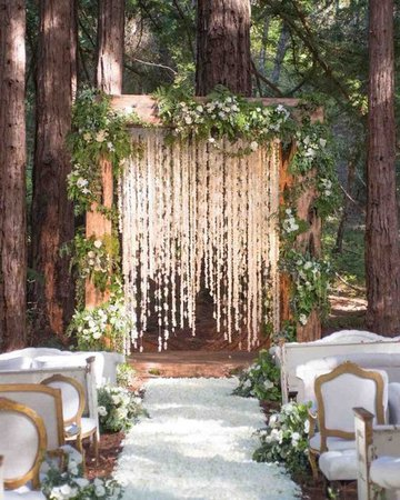 Beautiful Forest Wedding Ceremony Decor