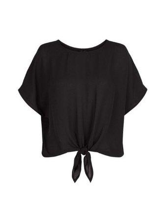black tied t-shirt