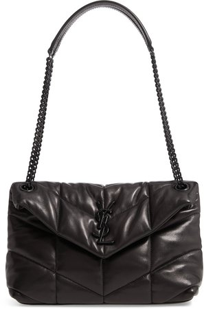 Small Loulou Leather Puffer Bag