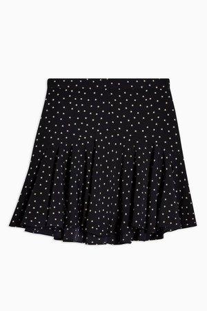 Black Star Flounce Mini Skirt   Topshop