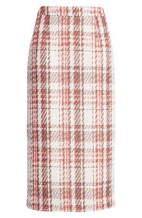 Halogen® Plaid Tweed Pencil Skirt (Petite) | Nordstrom