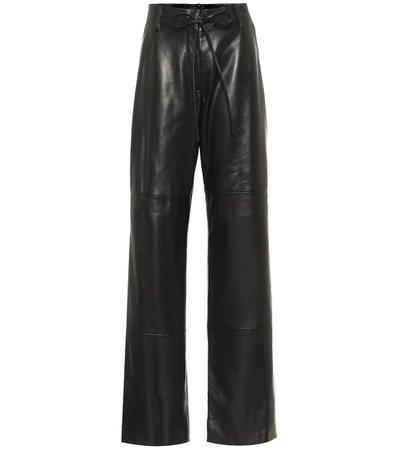 High-Rise Wide-Leg Leather Pants - Tom Ford   Mytheresa