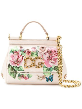 Small Sicily Rose Print Bag - Dolce & Gabbana