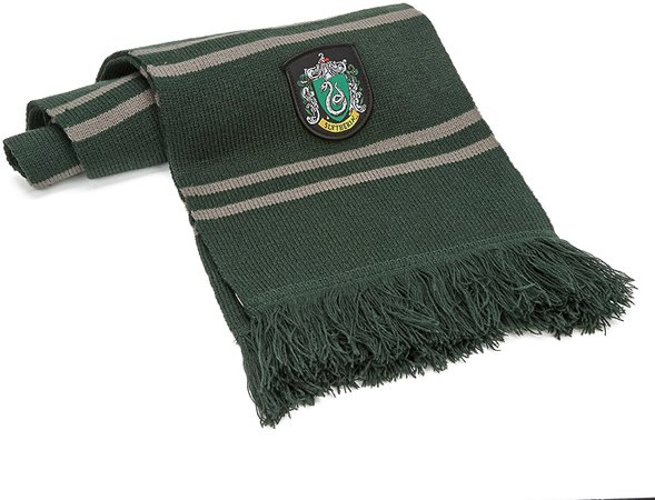 Amazon.com: Cinereplicas Harry Potter Scarf - Official - Authentic - Ultra Soft Knitted Fabric (Green & Silver (Slytherin)): Clothing