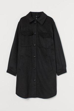 Long Shirt Jacket - Black