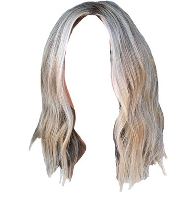 blonde hair short png