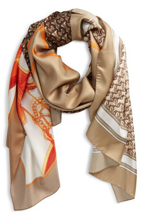 Burberry Society Montage Print Silk Scarf | Nordstrom