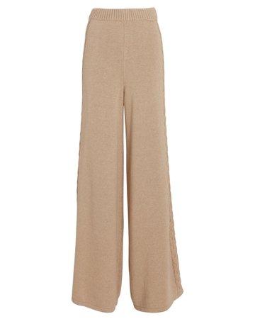 STAUD Mitchell Cable Knit Wide-Leg Pants | INTERMIX®