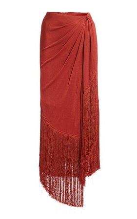 Veronika Fringed Jersey Maxi Skirt By Cult Gaia | Moda Operandi