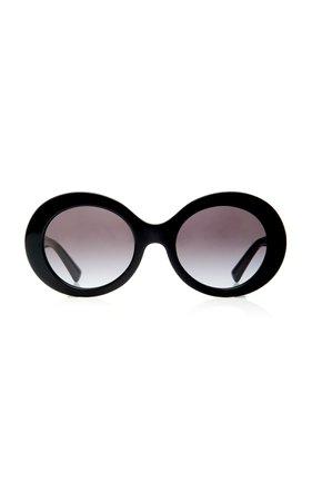 Valentino Tortoiseshell Acetate Round-Frame Sunglasses