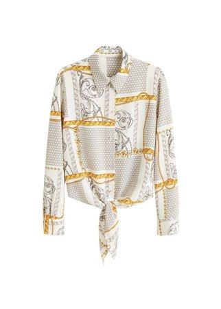 MANGO Knot printed shirt