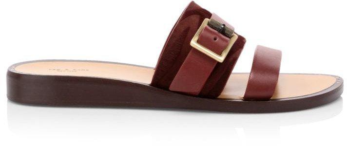 Arley Calf Hair & Leather Flat Sandals
