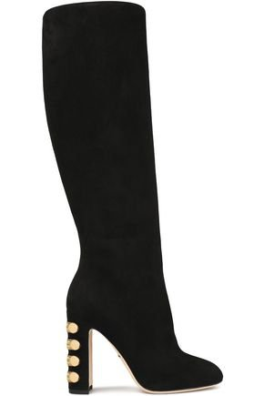 Embellished suede knee boots | DOLCE & GABBANA | Sale up to 70% off | THE OUTNET