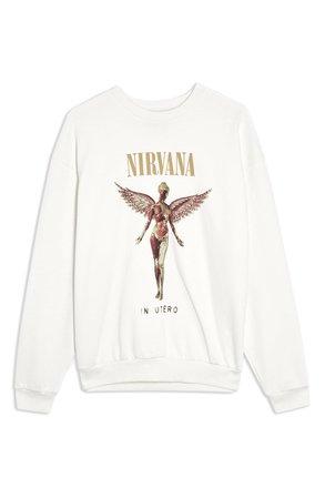 Topshop Nirvana Sweatshirt | Nordstrom